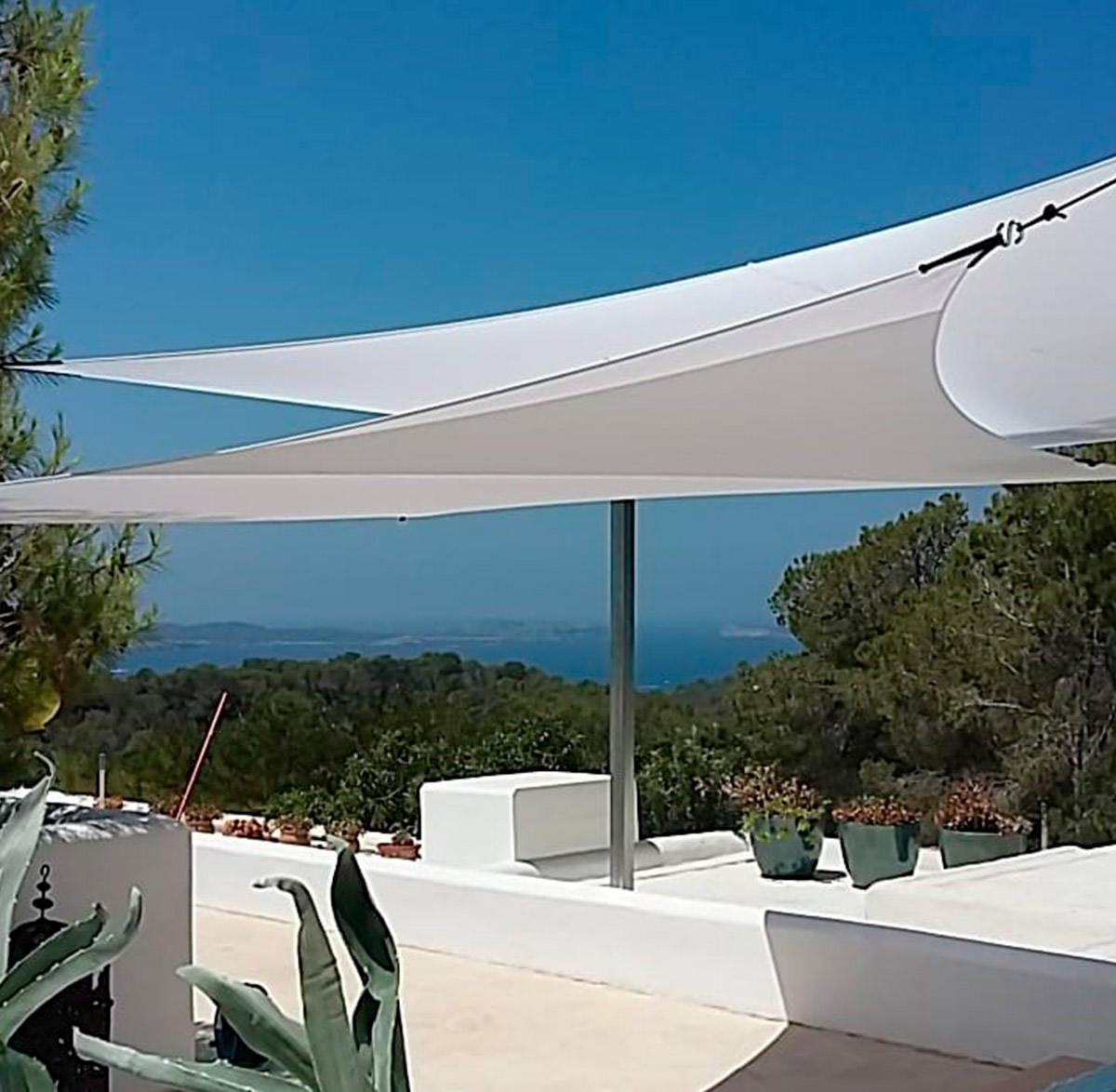TRIANGLE L 5,00 x 5,00m Sun Shade Sail