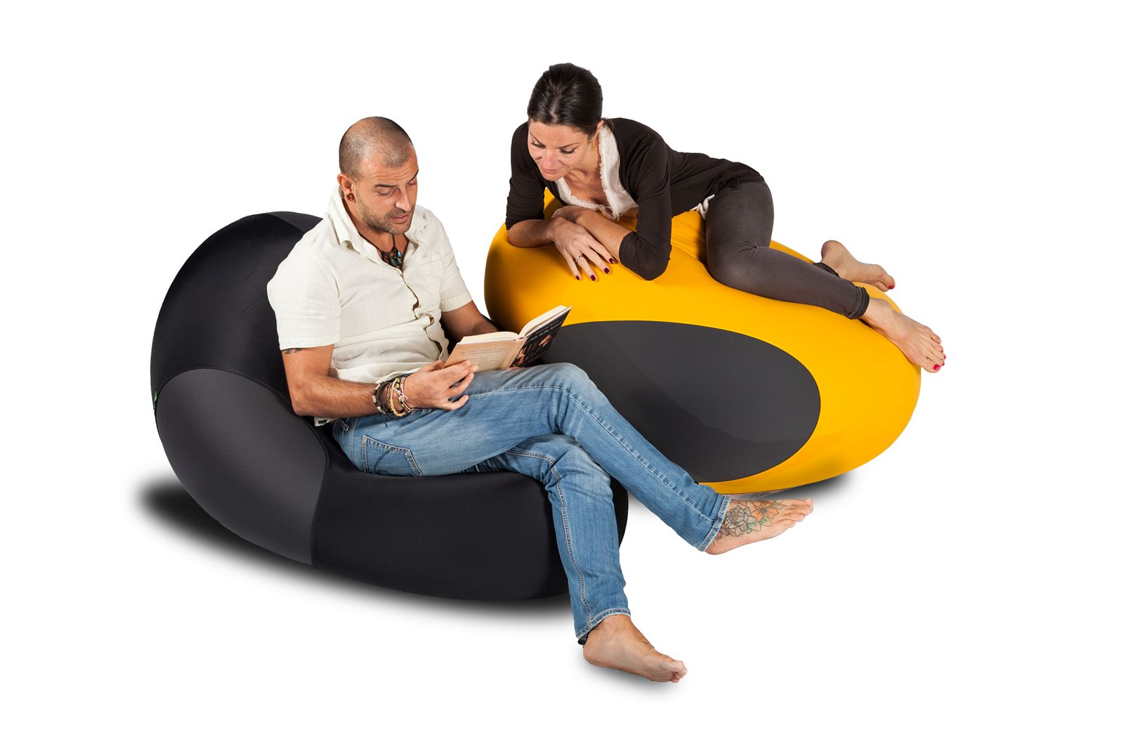 X-Drop Pouf da interno Nero