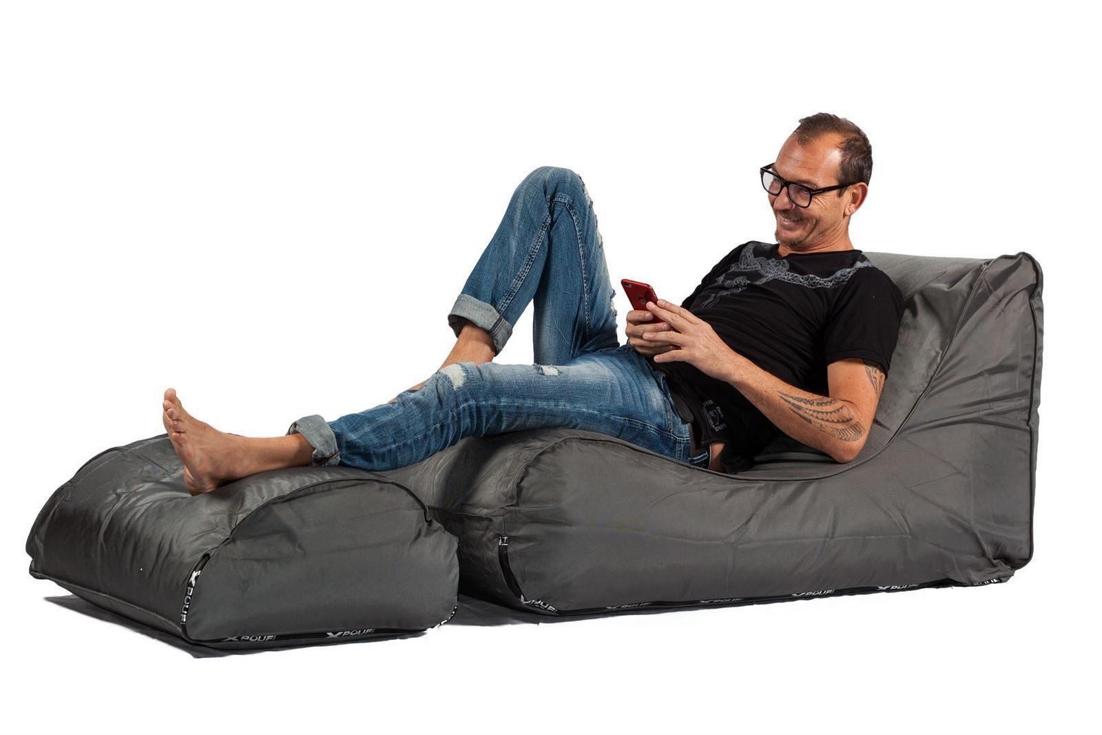 Lounge pug cuscino pouf sacco xl corda classica visone u big