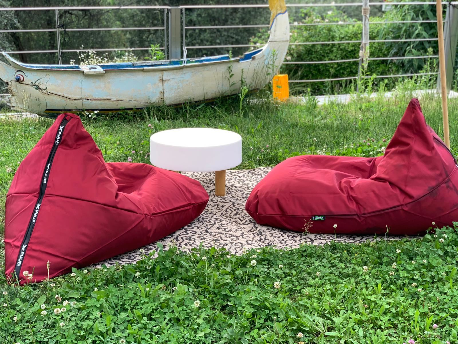 X-TRIANGLE Outdoor Pouf Rosso