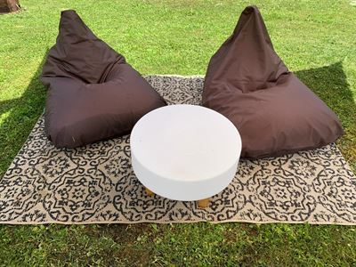 X-TRIANGLE Outdoor Pouf Marrone
